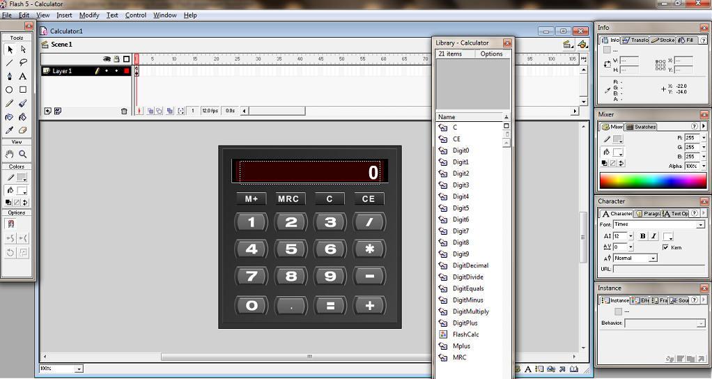 Macromedia flash 5 (часть вторая) анимация