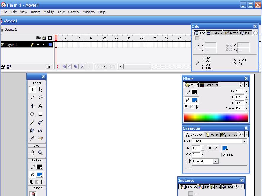 Программирование - это просто - Изучаем Macromedia Flash. Урок 1 ...
